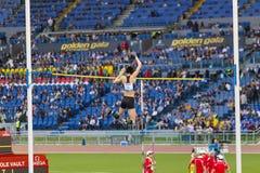 Li Ling - atleta del salto con l'asta Fotografia Stock
