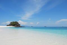 Island. Clear blue sky at Li-pe island, thailand Royalty Free Stock Photos