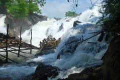 In Li Phi Waterfalls dichtbij Don Det royalty-vrije stock foto's