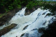 A Li Phi Waterfalls vicino a Don Det Fotografie Stock Libere da Diritti