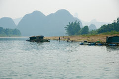 Li River. The Li River, in Yangshuo, China royalty free stock photography