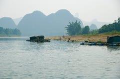 Li River. The Li River, in Yangshuo, China Royalty Free Stock Photography
