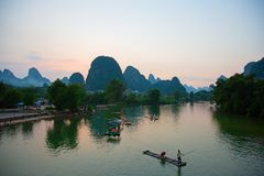 Li River Royaltyfri Foto