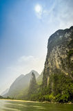 Li river baboo mountain landscape in Yangshuo Guilin China Royalty Free Stock Photo