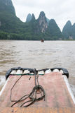 Li river boat trip, China Royalty Free Stock Images