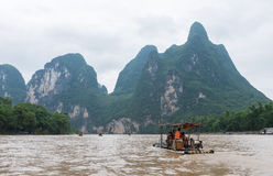 Li river boat trip, China Royalty Free Stock Photography