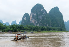 Li river boat trip, China Royalty Free Stock Photos