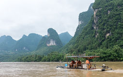 Li river boat trip, China Stock Photography