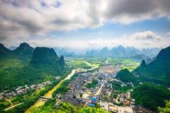 Li River in Cina Fotografia Stock