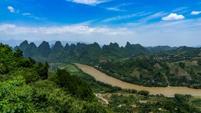 Li River in Gaunxi stock images