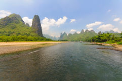 The Li River at Guilin Stock Photography