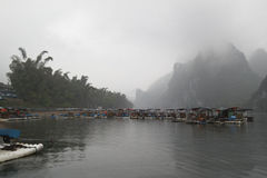 Li River,Guilin,China, 22th, March, 2014, boats and waterfront of Li River , Guilin Stock Photography