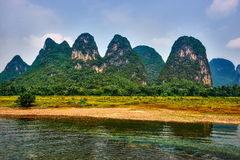 Li river, Guilin Yangshuo Guangxi  China Royalty Free Stock Photo