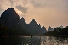 Li river, Guilin Yangshuo Guangxi  China Stock Photos
