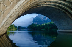Li river karst mountain landscape Stock Image