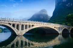 Li river karst mountain landscape Stock Photos