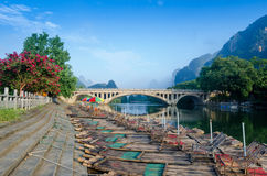 Li river karst mountain landscape Stock Photo