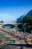 Li river karst mountain landscape Royalty Free Stock Image