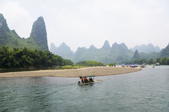Li River and Karst Mountains of Guilin Royalty Free Stock Images