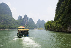 Li River and Karst Mountains of Guilin Stock Photo