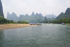 Li River and Karst Mountains of Guilin Royalty Free Stock Photography