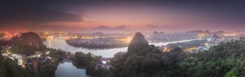 Li River and Karst mountains Guilin, Yangshuo stock photos