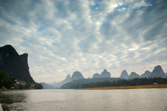 Li river landscape in morning Stock Photos