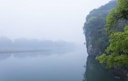 Li River-Landschaftsanblick Stockfoto