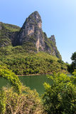Li river with limestone rock Stock Photo