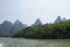Li river. Overview of the Li River in China Royalty Free Stock Photography