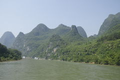 Li river. Overview of the Li River in China Royalty Free Stock Photos