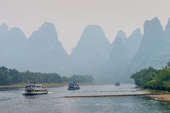 The Li River Scenery, Guangxi Province, China Royalty Free Stock Images