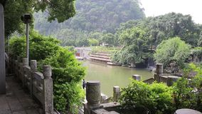 Li River som sett i Guilin, Kina stock video