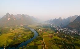 li River Valley Arkivbild