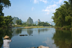 Li River, Yangshuo, China. The Li River cruise from Guilin to Yangshuo is the centerpiece of any trip to northeastern Guangxi Province Stock Photo