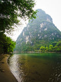 Beautiful landscape near the Li river, Yangshuo, China royalty free stock image