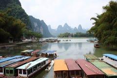 Li-rivier in Guilin stock afbeeldingen