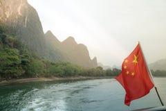 Li Rzeczny rejs z chińczyk flaga Obraz Royalty Free