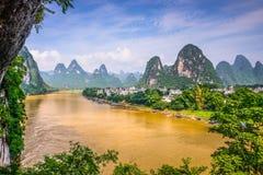 Li rzeka w Chiny Zdjęcia Stock