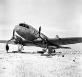 LI-2 spianano â un monumento all'aviazione polare Fotografie Stock