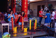 Li Thi Miew Chinese Temple Stock Photo