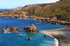 Li Tinnari - liten vik av Nord Sardinia Fotografering för Bildbyråer