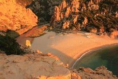 Li Tinnari - zatoczka Nord Sardinia Zdjęcie Royalty Free