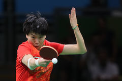 Li Xioxia at the Olympic Games in Rio 2016. Stock Photography