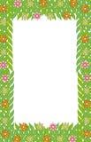 Liść zielony ramowy kwiat   Zdjęcie Stock