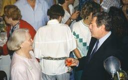 Lia Van Leer och Marcello Mastroianni Royaltyfri Bild
