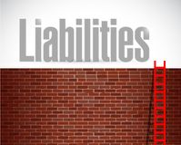 Liabilities ladder illustration design Stock Images