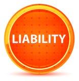 Liability Natural Orange Round Button. Liability Isolated on Natural Orange Round Button royalty free illustration