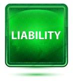 Liability Neon Light Green Square Button. Liability Isolated on Neon Light Green Square Button vector illustration