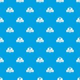 Liability pattern vector seamless blue. Repeat for any use Royalty Free Stock Photo